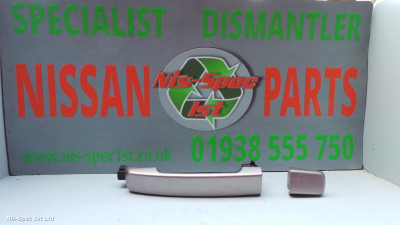 Nissan Qashqai J10 06 - 14 Drivers Side Rear Outer Door Handle Not Keyless