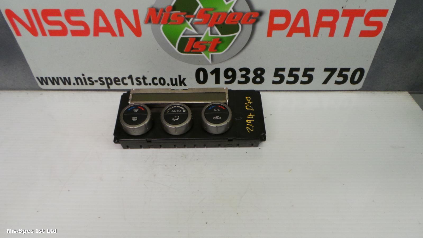 Heater Control Panel Controls A/C Air Con 27510EB56C Nissan Navara D40 2005-2009