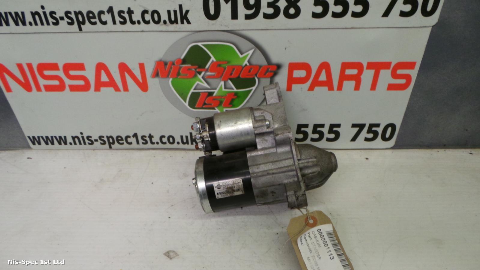 NISSAN QASHQAI Starter Motor Mk1 (J10) 1.6 Petrol 1KA1C 12 MONTH WARRANTY