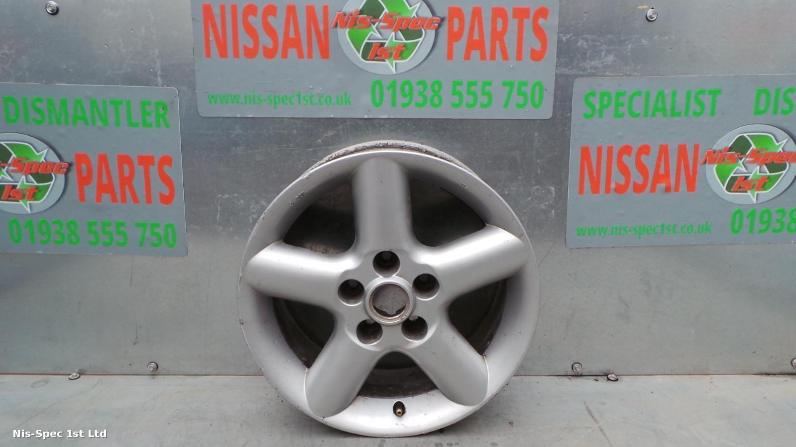 Nissan X Trail T30 01 - 06 16 Inch 6.5 x 16 Silver 5 Spoke Alloy Wheel
