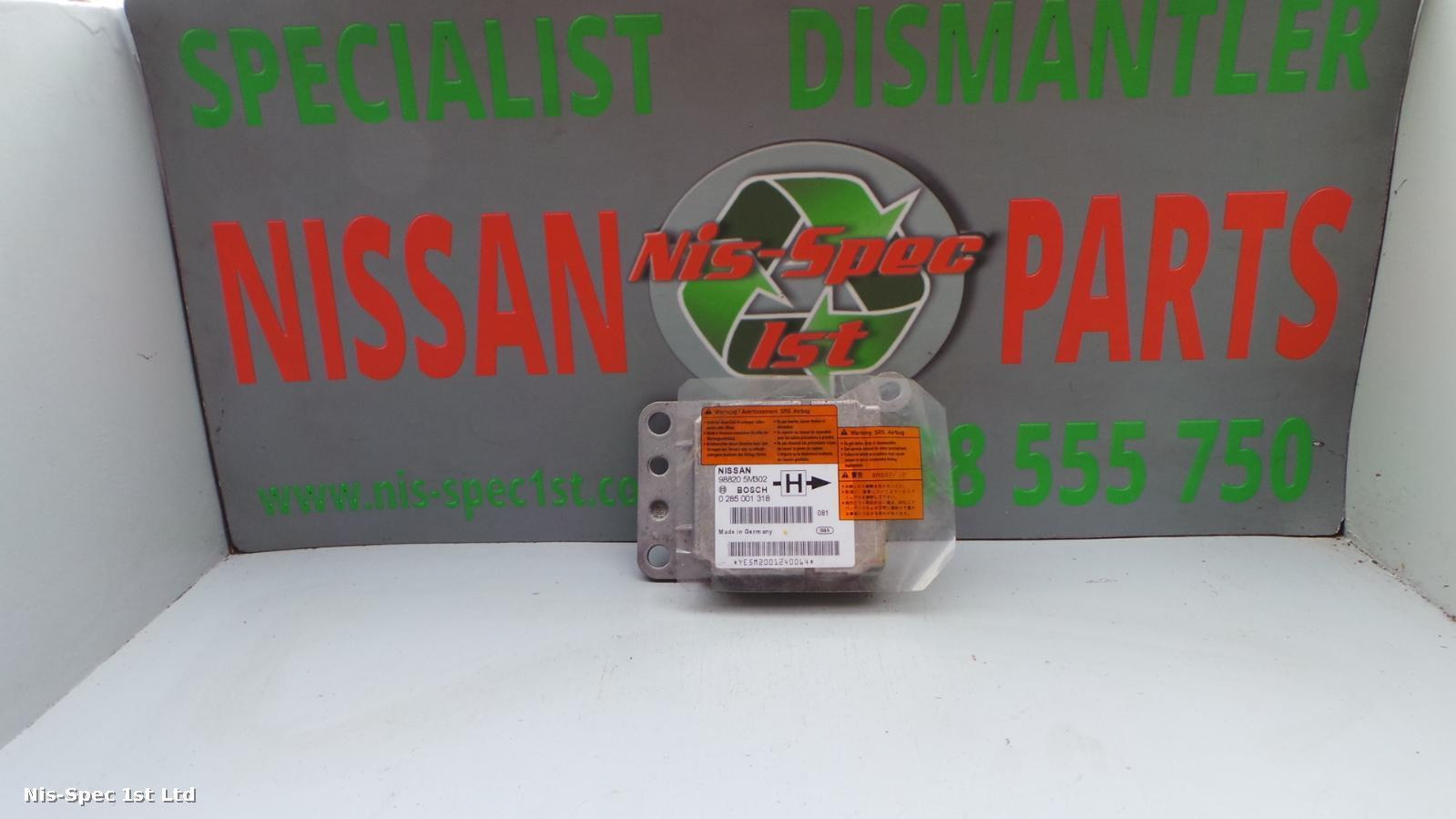 NISSAN ALMERA N16 00-07 AIR BAG ECU PART NUMBER 98820 5M302