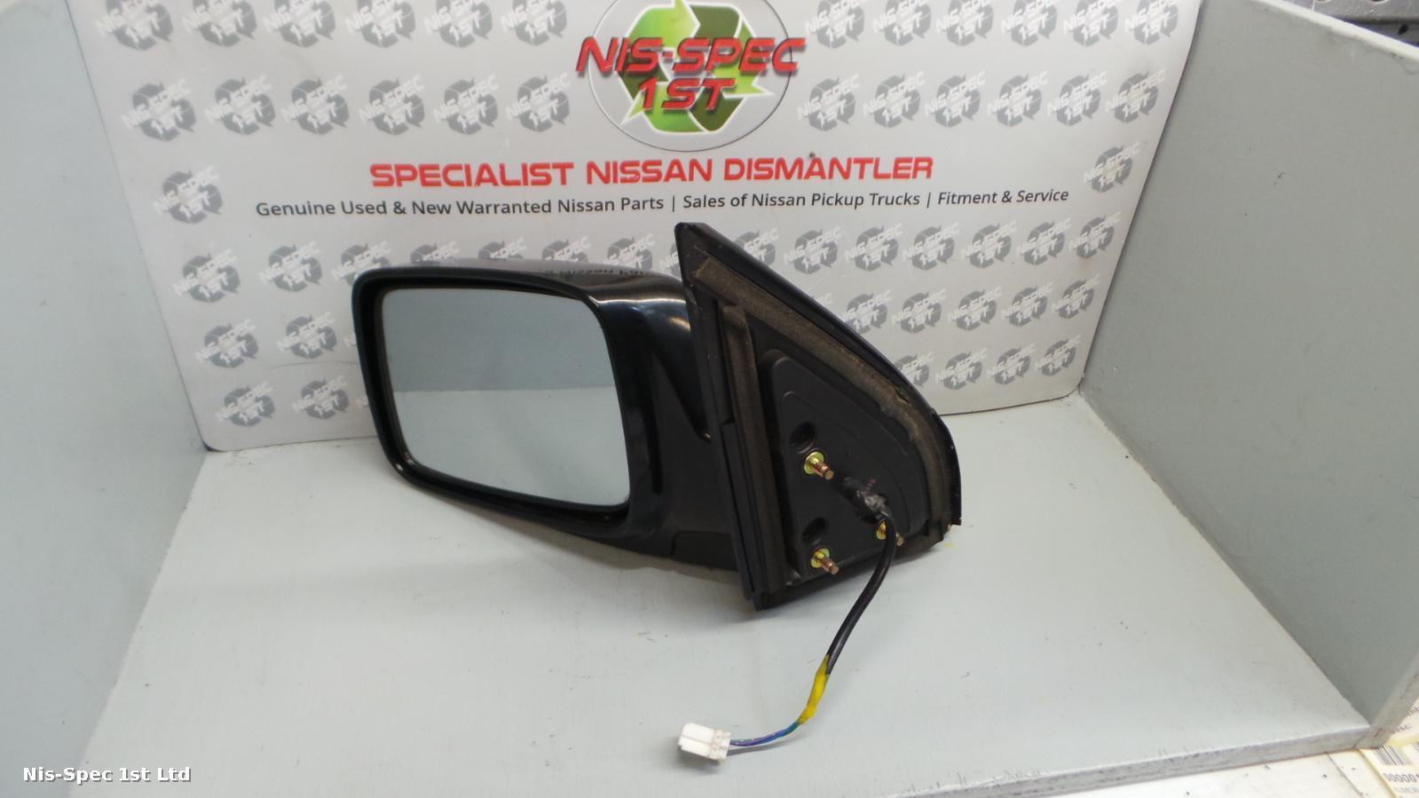 X TRAIL PASSENGER DOOR MIRROR 3 WIRE BLACK T30 01-06