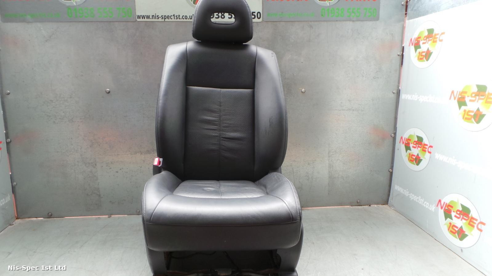 X TRAIL PASSENGER SEAT FRONT LEFT LEATHER ELECTRIC T31 07-13