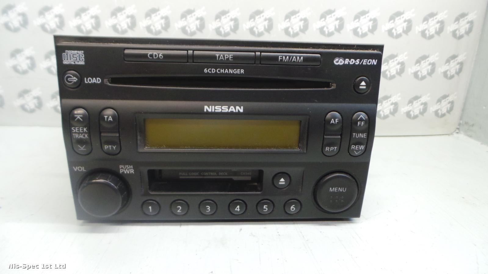 X TRAIL RADIO 6 CD TAPE PLAYER PART NUMBER 28188 EQ300