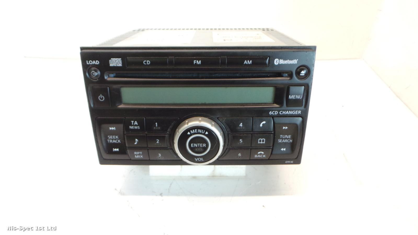 NISSAN X TRAIL T31 07-13 RADIO 6 DISC PLAYER P/N 28185 JH100