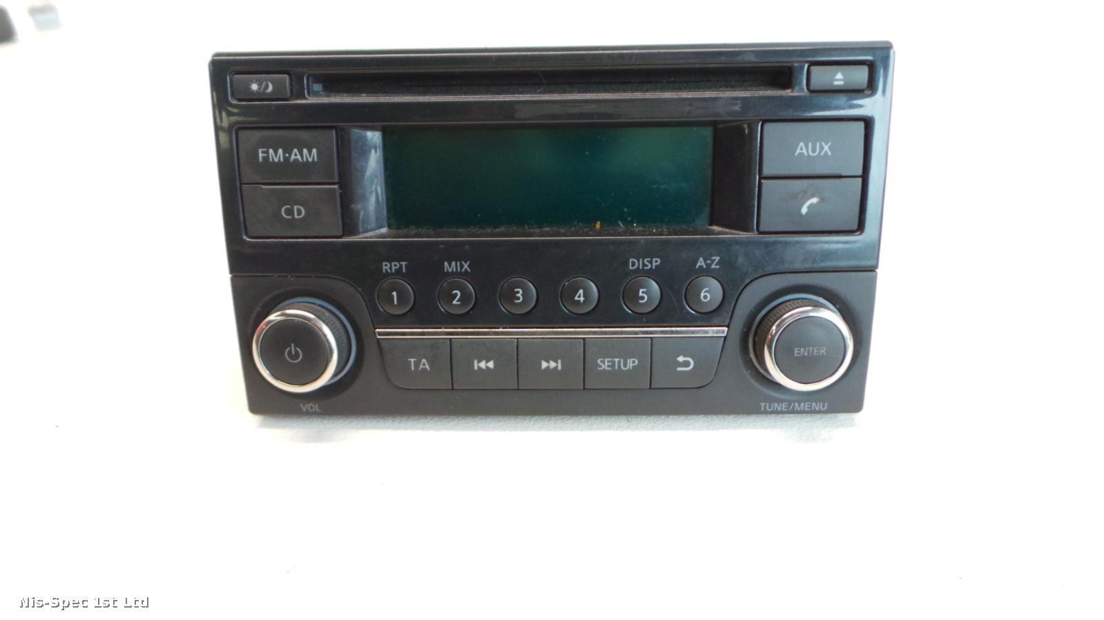 NISSAN NV200 RADIO CD PLAYER PART NUMBER 28185 BH30B