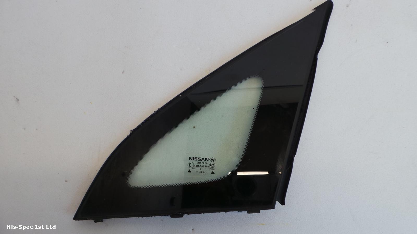 NISSAN NV200 10-14 PASSENGER NEARSIDE FRONT QUARTER LIGHT WINDOW