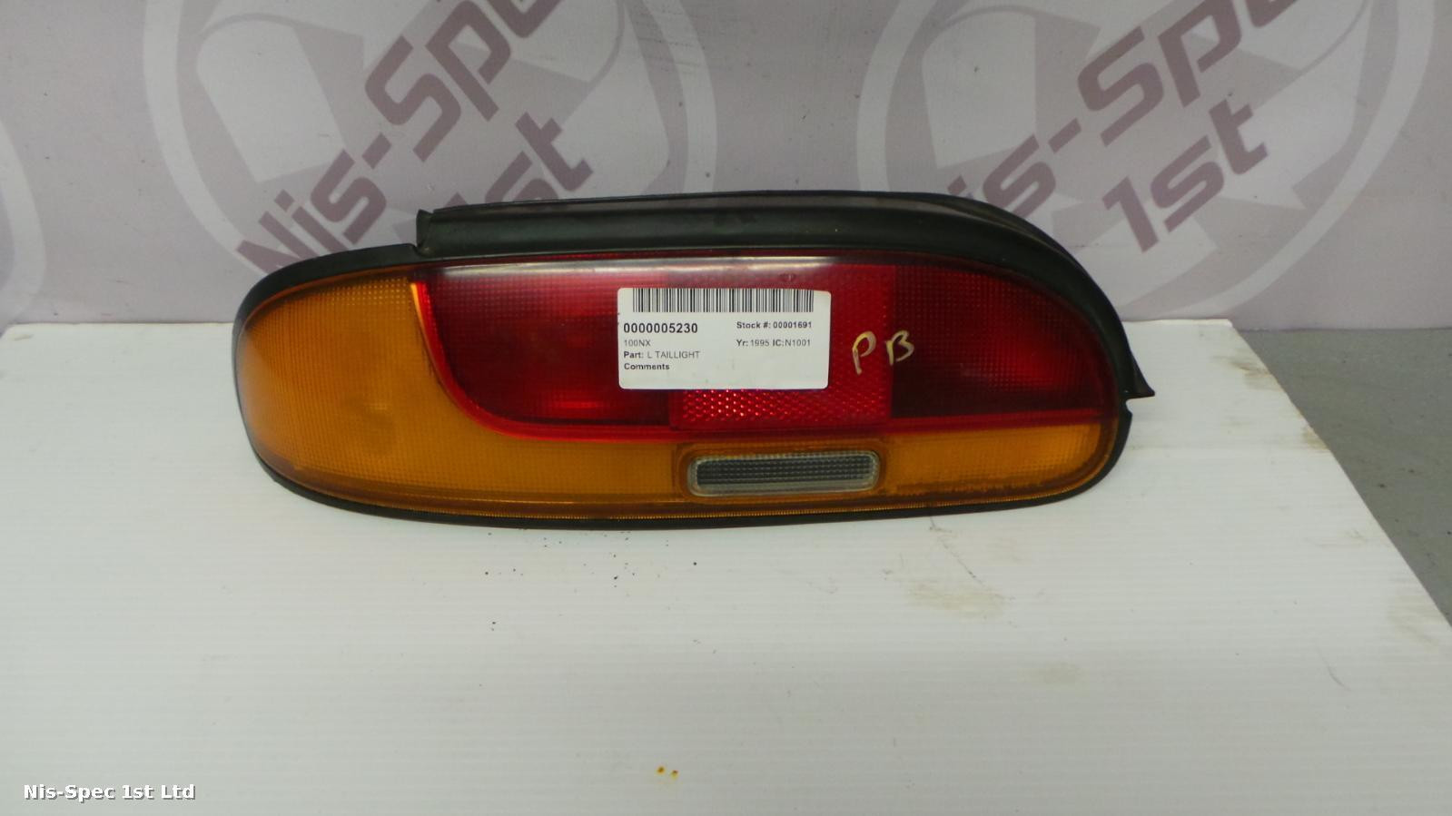 Nissan 100NX Passenger Side Taillight 91 - 95